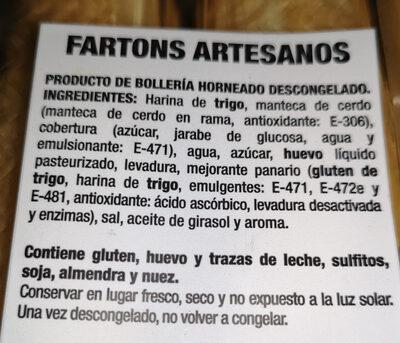 Fartons - Ingredients - es