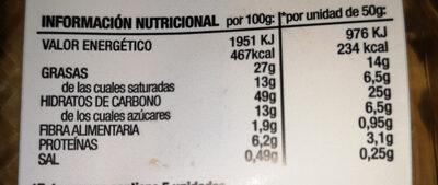 Fartons - Informació nutricional - es