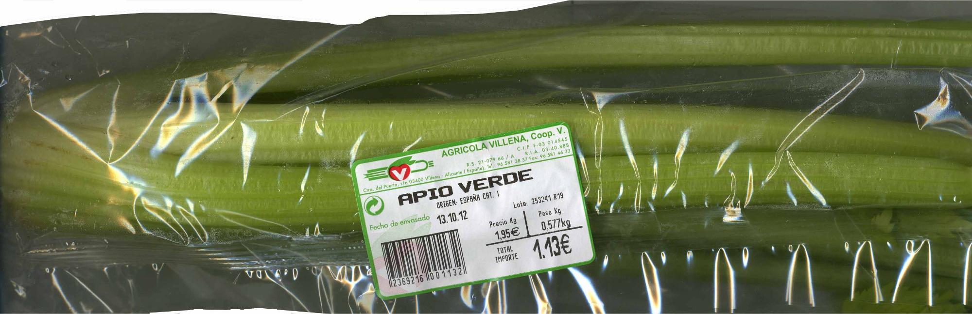 """Apio """"V Agrícola Villena"""" - Producto - es"""