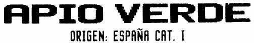 """Apio """"V Agrícola Villena"""" - Ingredients - es"""