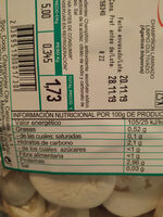 Champiñón laminado - Ingredients