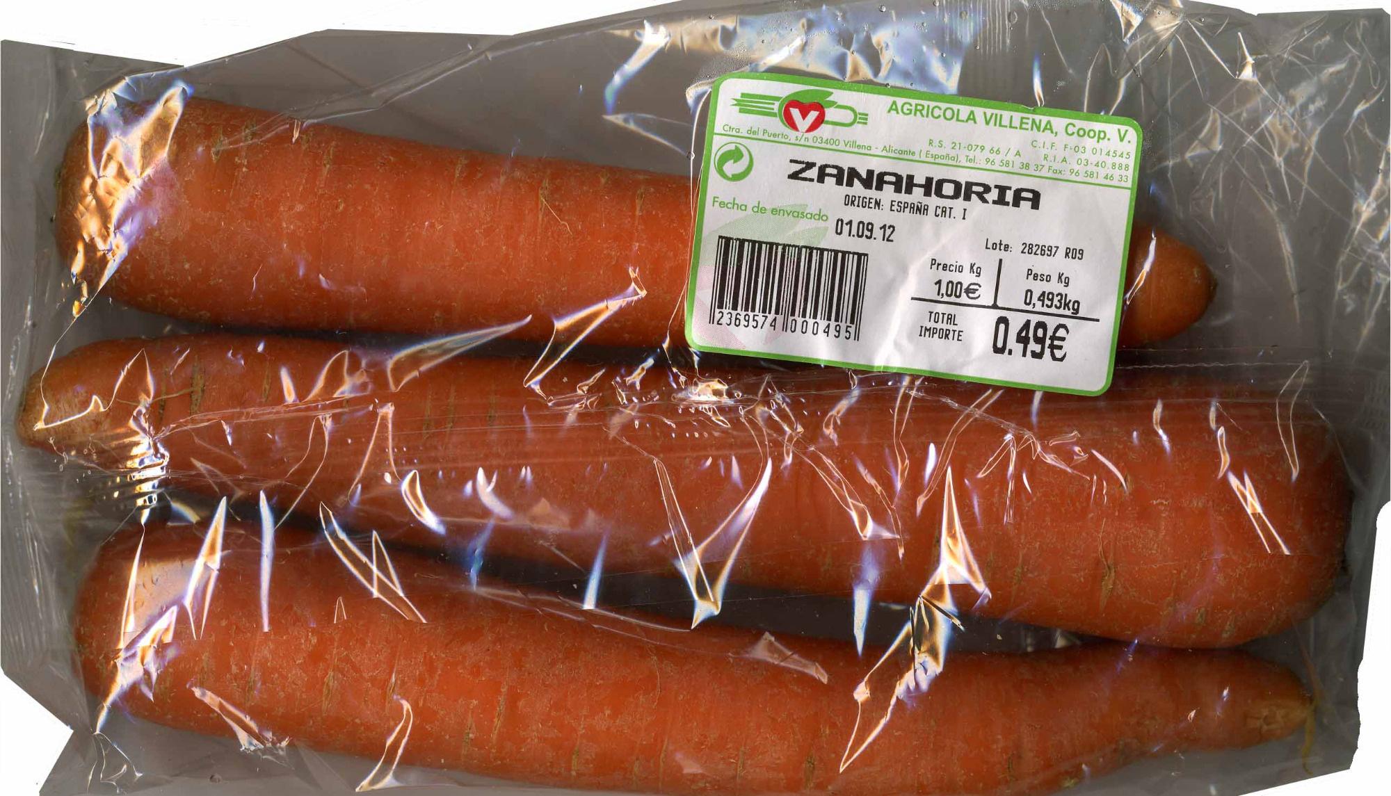 """Zanahorias """"V Agrícola Villena"""" - Produit - es"""