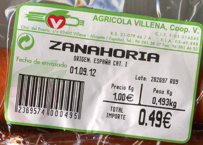 Zanahorias - Ingredients - es
