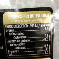 Mojama de atún - Nutrition facts