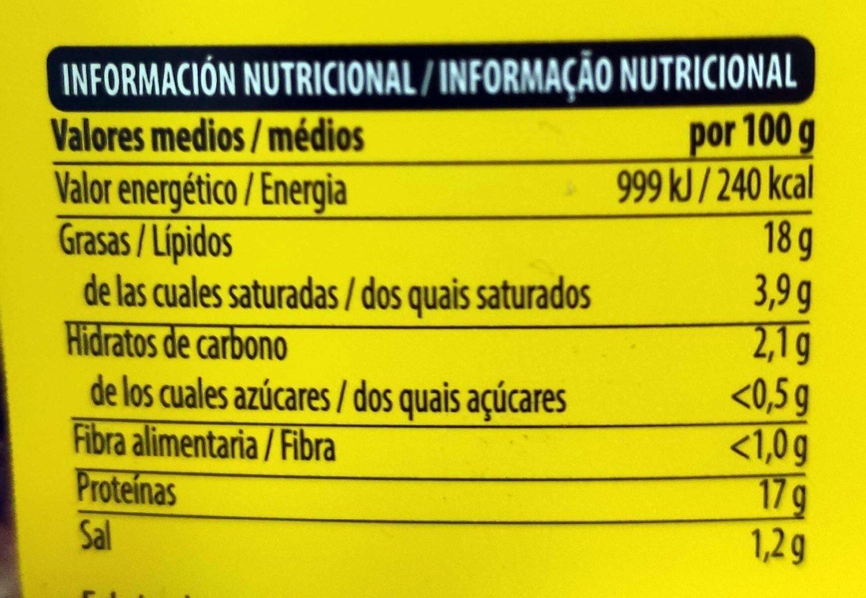 Alitas asadas - Valori nutrizionali - es