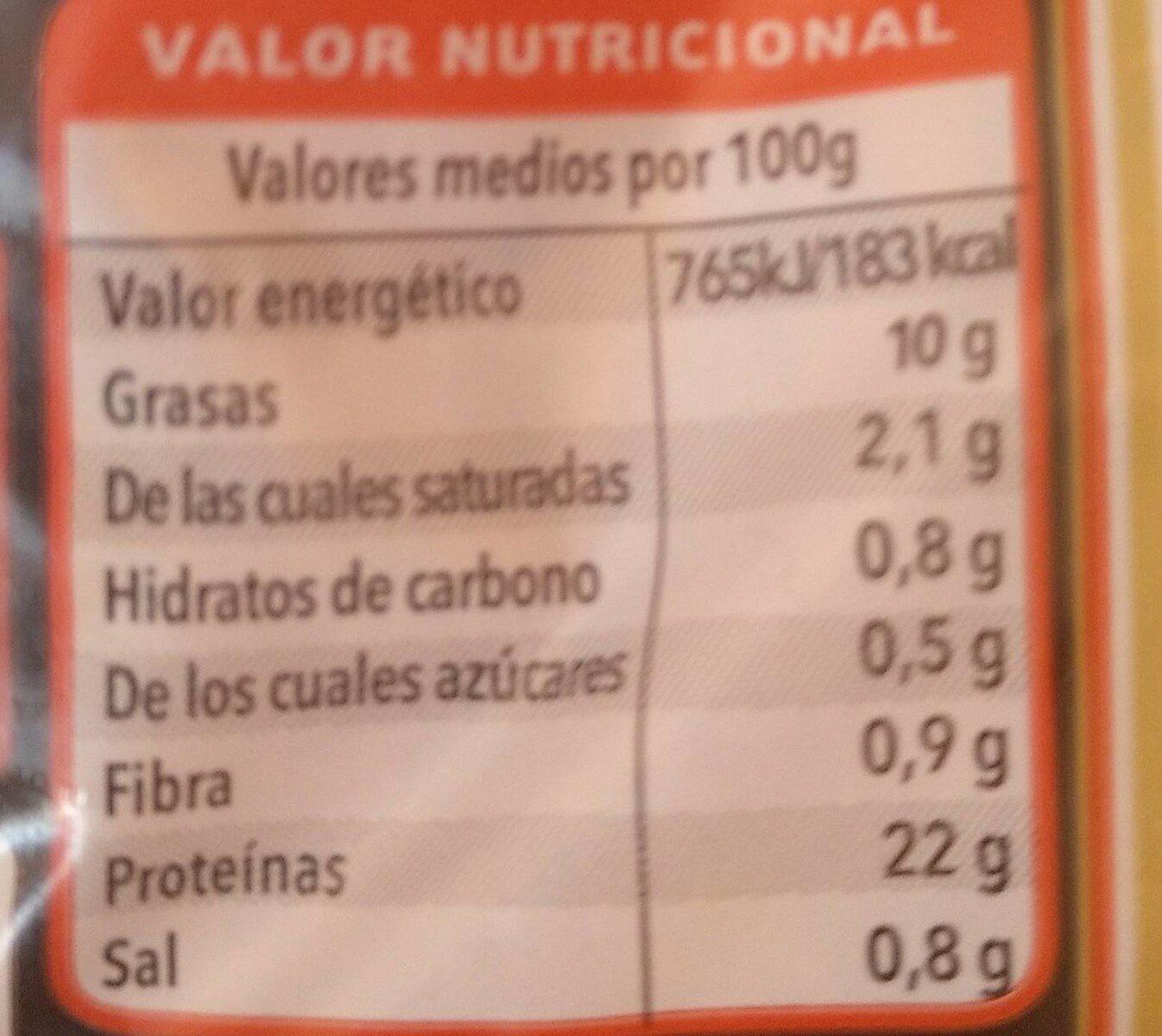 pollo asado - Voedingswaarden - es