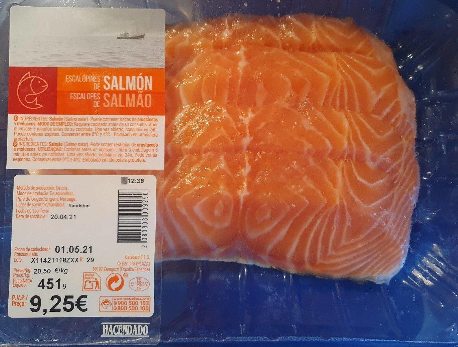 Escalopines de salmón - Product - es