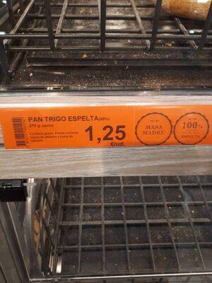 Pan trigo espelta - Nutrition facts