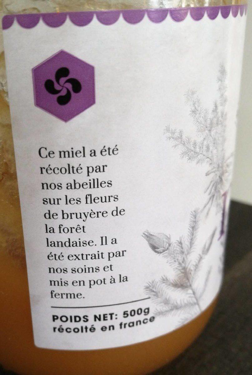Miel de bruyère des Landes - Ingrédients - fr