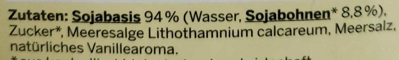 Bio Soja Drink Vanille - Ingredients - de
