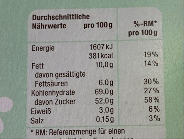 Jaffa cake - Nutrition facts - de