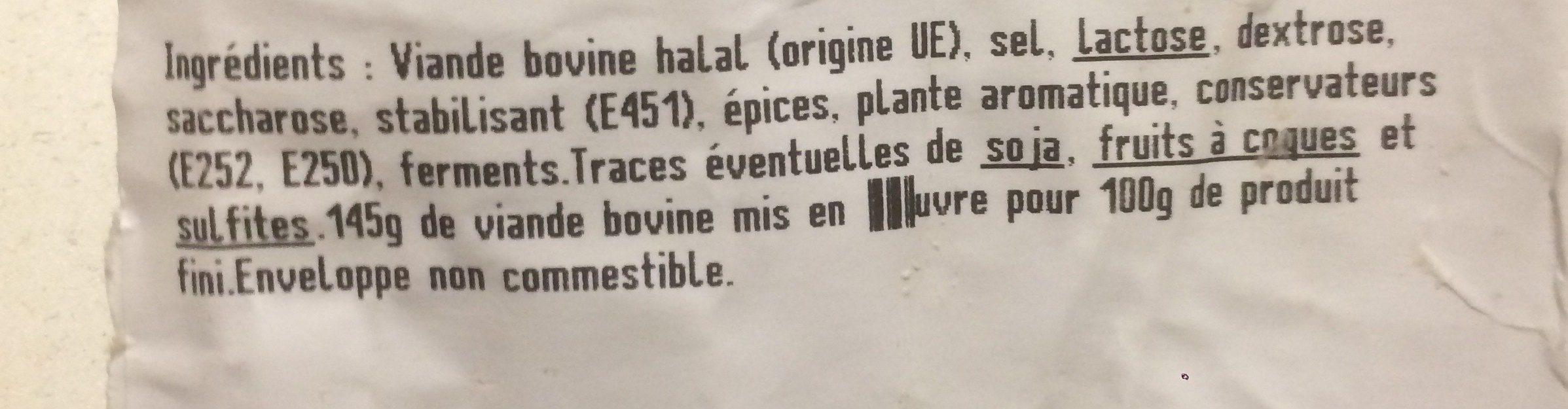 Le gros sec - Ingrediënten - fr