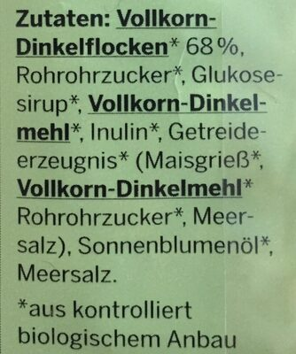 Bio Dinkel Crunchy-Müsli - Ingrediënten - de