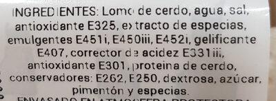 Filete de lomo adobado familiar - Ingredients - es