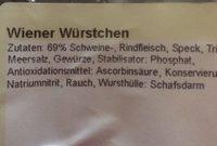 Wiener wurstché - Ingrédients