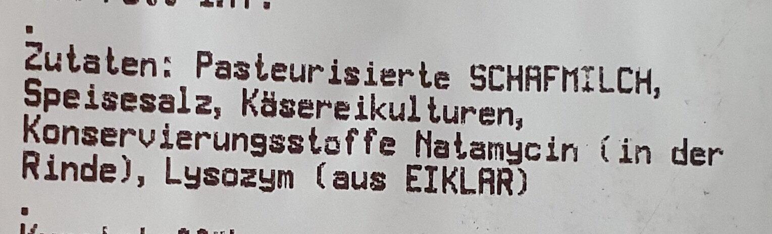 Etorki Schafskäse - Ingredients - de