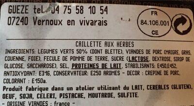 La caillette des rois - Ingrediënten - fr