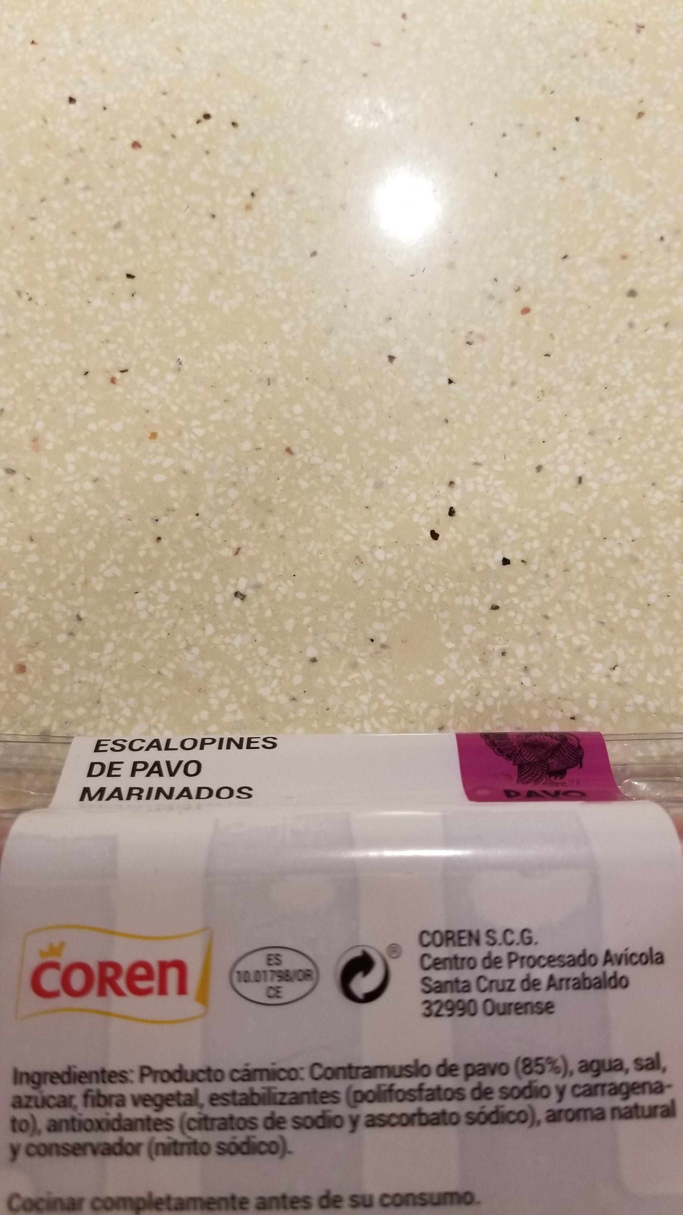 Escalopines de pavo marinado - Ingredients