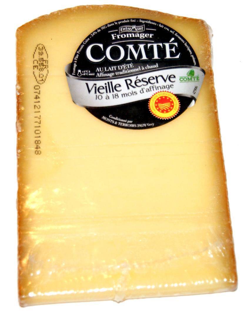 Comté AOP au lait d'été (34% MG) - vieille réserve : 10 à 18 mois d'affinage - 204 g - Produit - fr