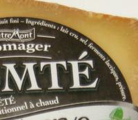 Comté AOP au lait d'été (34% MG) - vieille réserve : 10 à 18 mois d'affinage - 204 g - Ingrédients - fr