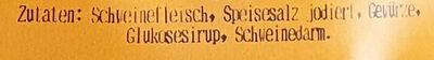 Hausmacher Bratwurst roh - Inhaltsstoffe
