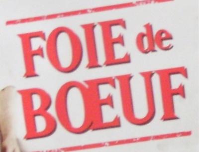 Foie de bœuf - Ingredients - fr