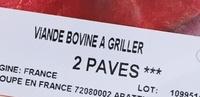 2 Pavés Halal - Ingredients - fr