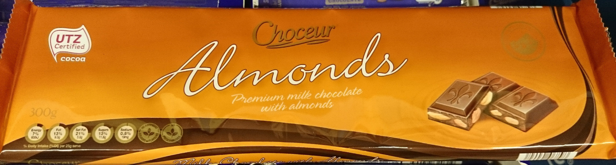 Almonds Chocolate Block - Produit - en