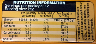 Almonds Chocolate Block - Nutrition facts - en