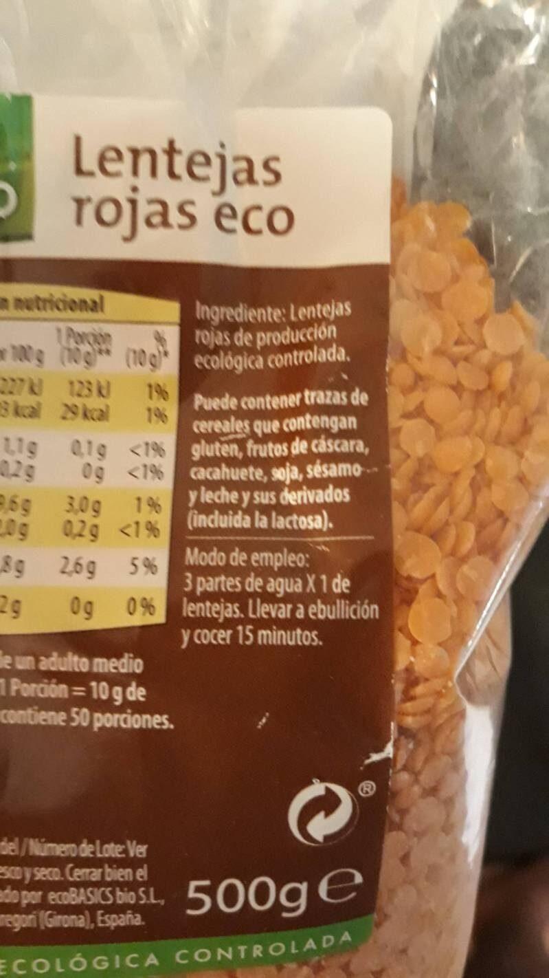 Judías azuki eco - Ingrédients - es