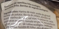 Barritas vegetales ecológicas - Ingredientes