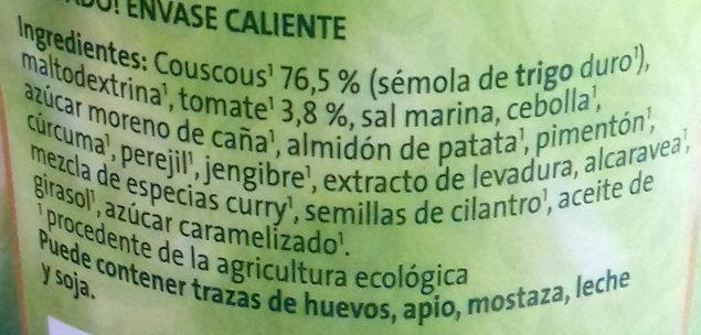 Couscous estilo oriental - Ingredients