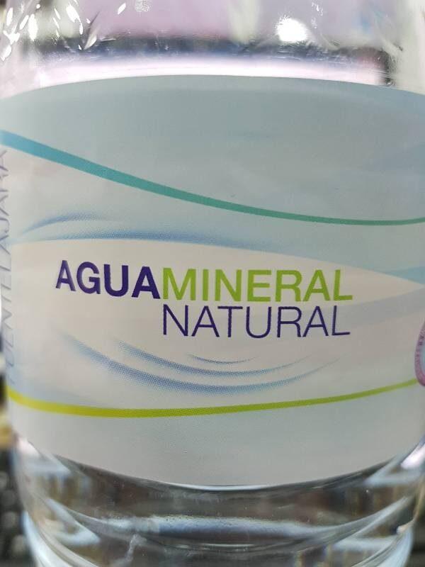 Agua mineral natural - Ingredientes
