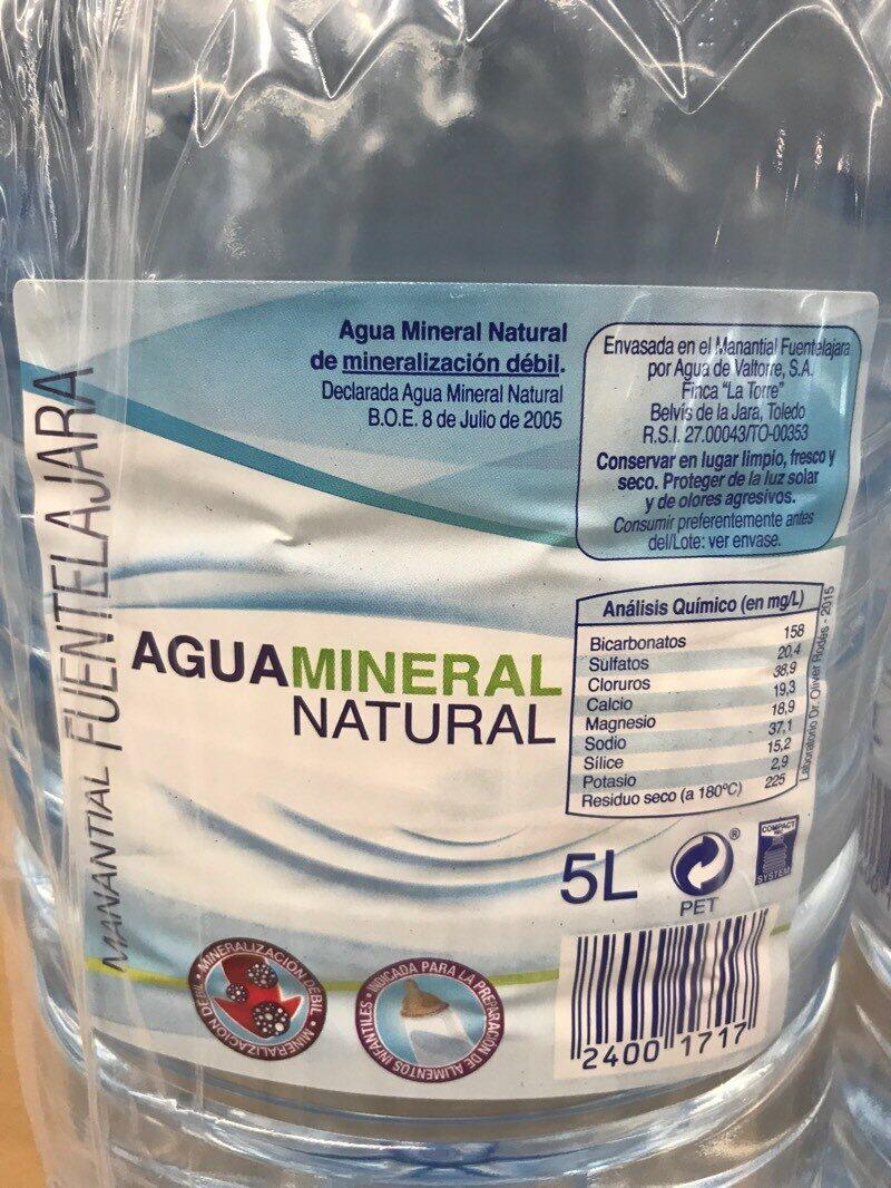 Agua mineral natural manantial fuentelajara - Ingredientes - es
