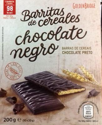 Barritas de cereales chocolate negro - Producto