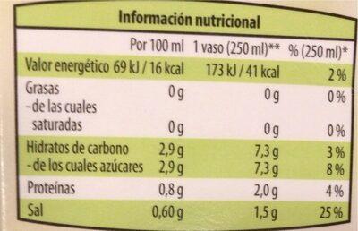 Zumo de tomate - Nutrition facts - es