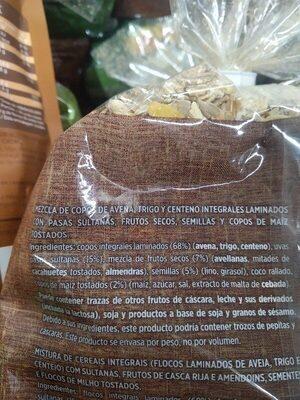 Muesli - Ingredients - es