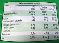 Coco-chips - Voedingswaarden