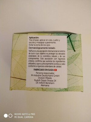 Crema antiedad - Nutrition facts