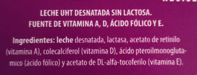 Leche - Ingredientes - es
