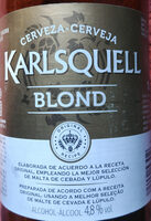 Cerveza karlsquell blond - Producto