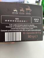 Cafe ristreto - Ingredientes - es