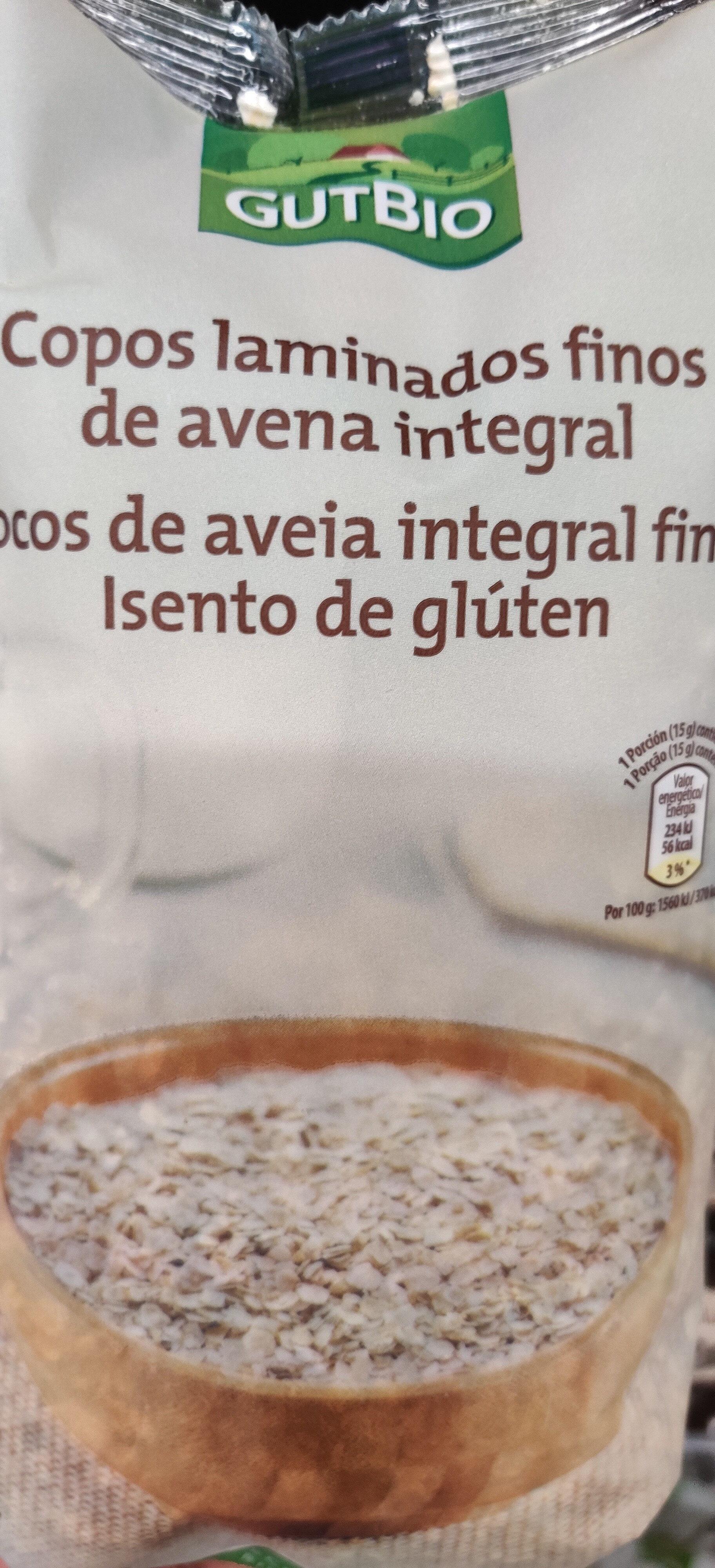 copos laminados gruesos de avena integral sin gluten - Product - en