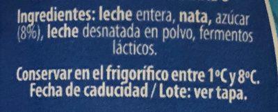 Yaourt griego azucarado - Ingrédients - fr