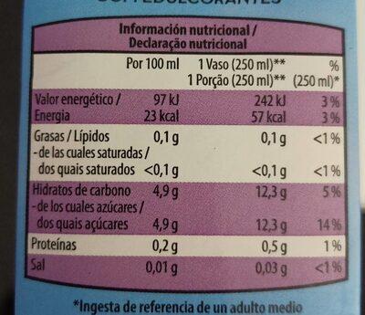 Zumo de piña - Información nutricional - es