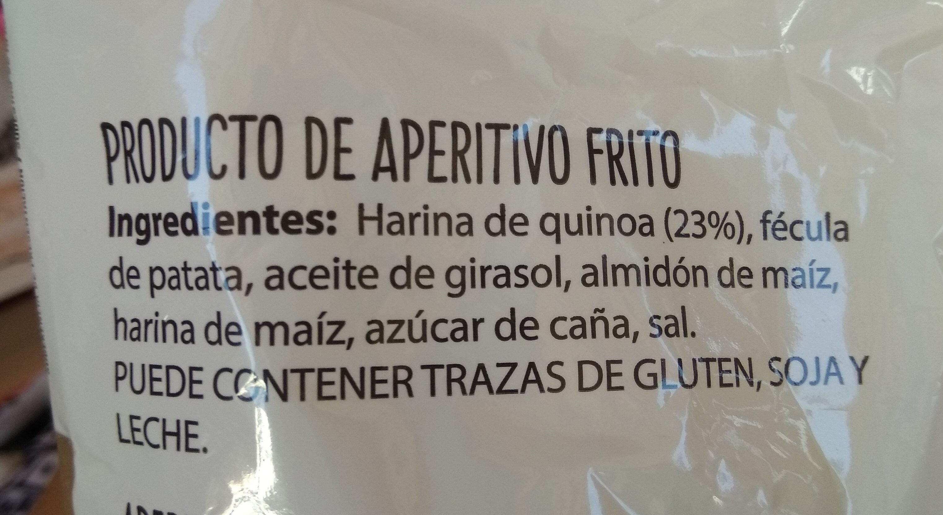 Chips de Quinoa - Ingredientes