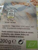 Trigo inflado con miel - Ingrediënten - es