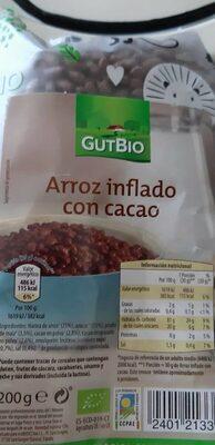 Arroz inflado con miel - Informació nutricional - es