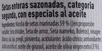 Calabacin asado - Ingredientes