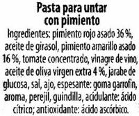 Bruschetta con pimiento - Ingrediënten